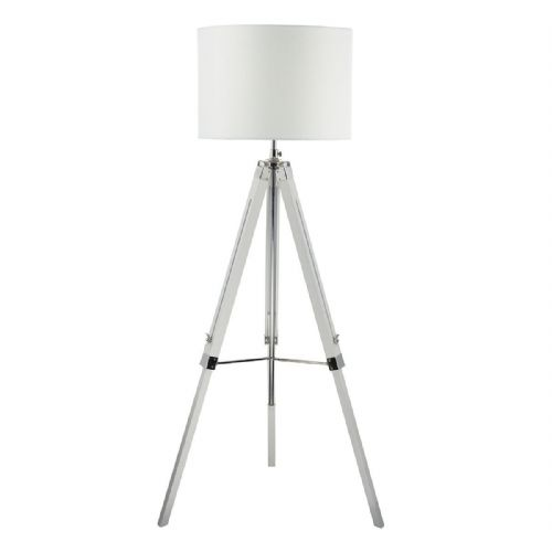 Easel Tripod Floor Lamp Base Only White EAS492 (Class 2 Double Insulated)